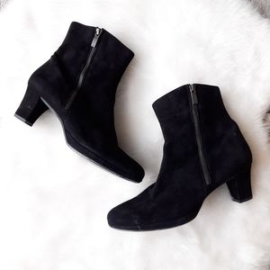 Paul Green | Black Suede High Ankle Booties